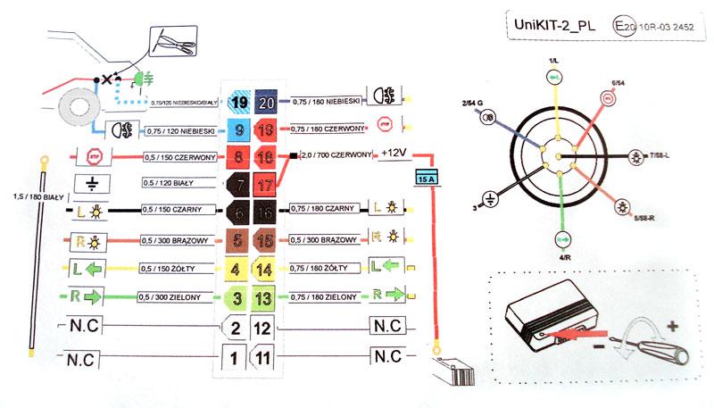 схема присоединения прицепа.